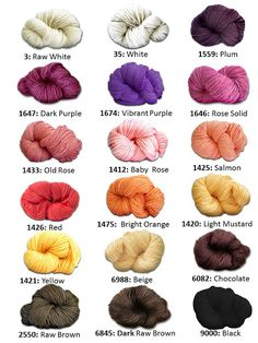 ABUELITA YARNS: Colors