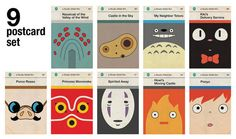 Studio Ghibli posters as old Penguin covers - seems like Ghibli took them from #Etsy. #fanart