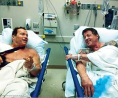 two hero in hospital
