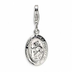 Zales Mens Saint Christopher Medallion Pendant (3 Lines) dm635Mmy2