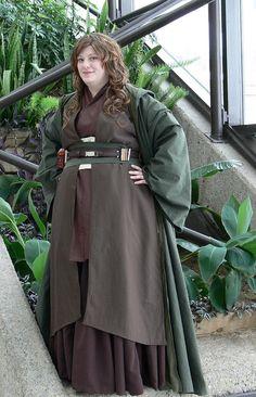 64caec89ac Adult Star Wars Jedi Costume Robe Tunic Cosplay by KatashaCostumes Female  Jedi Costume