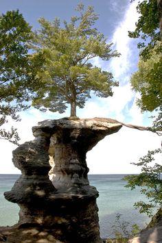 Pictured Rocks National Lakeshore on Lake Superior, Michigan.