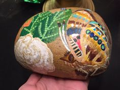 Treasures Hand painted River Rock by LadyStardustDesign on Etsy