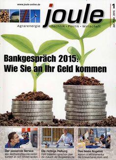 Bankgespräch 2015: Wie Sie an Ihr Geld kommen. Gefunden in: joule, Nr. 1/2015