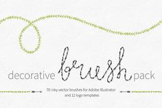 Decorative Brush Pack by Pixelwise Co. on Creative Market