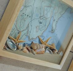 Great idea for sand & shells and map of where they came from