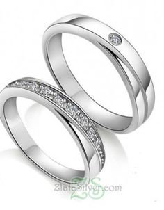Titanium Wedding Rings 925 Silver Rhodium Lettering Couple Rings - Shop Our New Fashion 925 Silver Rhodium Lettering Couple Rings With The Lowest Price And Get Extensive Classic And Fashion Ring Collection Today. Platinum Wedding Rings, Wedding Ring Styles, Titanium Wedding Rings, Custom Wedding Rings, Wedding Ring Designs, Diamond Wedding Rings, Diamond Rings, Wedding Bands, Gold Wedding
