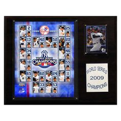 MLB 12 x 15 in. Yankees 2009 World Series Champions Plaque - B00413H26C