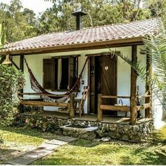 This Pin was discovered by Che Rural House, My House, Bamboo House, Spanish Style Homes, Tiny House Design, Tropical Houses, Cottage Homes, Little Houses, Traditional House