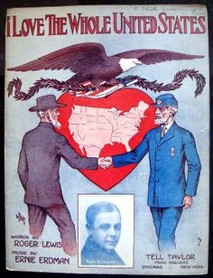 1913 Sheet Music I Love the Whole United States by Chestnutyankee, $25.00