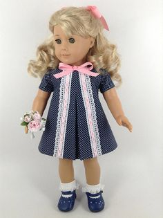 Dress and Matching Panties for American Girl Doll American Girl Doll Samantha, American Girl Dress, American Girl Clothes, American Girls, 1960s Outfits, Vintage Outfits, Girl Outfits, 1960s Style Dress, Girl Dolls