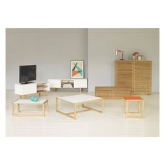 buy habitat drew low side table - bamboo at argos.co.uk - your