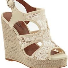Never Worn Lucky Brand Wedges White Lace