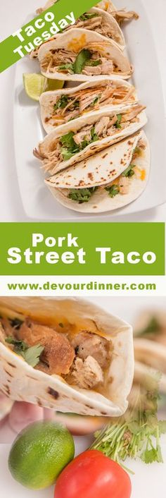 Pork Street Tacos - Devour Dinner #TacoTuesday won't be complete without delicious and easy to make Tacos. #crockpot and #instantpot Directions.