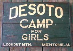 Desoto Camp for Girls Alabama Lookout Mt.