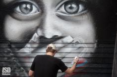 Australian graffiti writer Jerome was in Brick Lane Yesterday