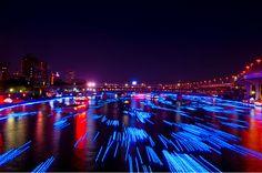 Tokyo Hotaru: 100,000 LEDs floating down a river