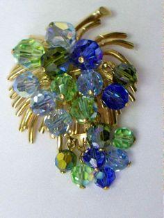 Vintage Blue Grape Cluster Aurora Borealis by YourVintageDesires, $22.00