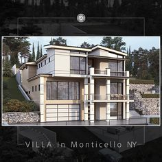 3d Visualization, Villa, Exterior, Mansions, House Styles, Home Decor, Decoration Home, Manor Houses, Room Decor