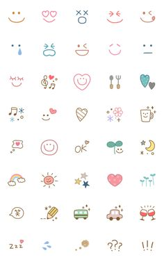 Useful adorable natural emoji 2 – LINE 이모티콘 Bullet Journal Writing, Bullet Journal Aesthetic, Bullet Journal Ideas Pages, Bullet Journal Inspiration, Mini Drawings, Cute Easy Drawings, Kawaii Drawings, Doodle Drawings, Mini Tattoos