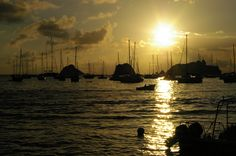 Sunset in St. Barts.