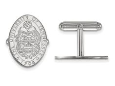 LogoArt Sterling Silver University Of Tennessee Crest Cuff Link