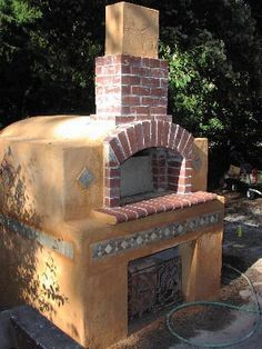 Could you imagine building your own pizza oven in the backyard?  That sounds dangerous... for your waistline...