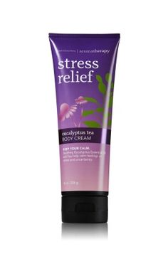 Can't get enough of this one these days!!!  Stress Relief - Eucalyptus Tea Body Cream - Aromatherapy - Bath & Body Works