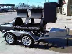 Custom BBQ Pit Smoker New Heavy Duty Grill Trailer Cooker Charcoal HotPlate