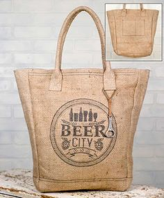 Burlap Market Bag