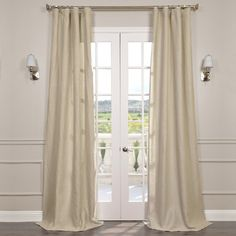 Half Price Drapes Signature Lace French Linen Sheer Single Curtain Panel