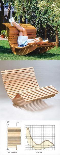 Pallet Outdoor Furniture Summer Waves Wooden Chaise Recliner - DIY outdoor furniture projects aren't just for the crafty or budget-conscious, they allow a refreshing degree of originality.Find the best designs! Pallet Furniture Designs, Furniture Projects, Wood Projects, Furniture Stores, Furniture Outlet, Discount Furniture, Furniture Makeover, Hutch Makeover, Furniture Websites