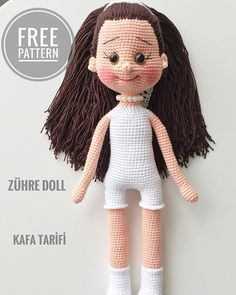 Free Amigurumi Crochet Doll Pattern and Design ideas – Page 37 of 37 – Daily Crochet! Crochet Dolls Free Patterns, Crochet Doll Pattern, Doll Patterns, Crochet Doll Tutorial, Diy Crochet, Crochet Hats, New Dolls, Sewing Toys, Stuffed Toys Patterns