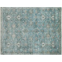 Blissfully Blue Hand Knotted Rug