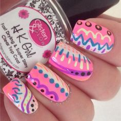 Image viaCool Tribal Nail Art Ideas and DesignsImage viaCustomized Aztec Press On Nails Fake nailsImage viaCool Tribal Nail Art Ideas and Designs. Get Nails, Pink Nails, How To Do Nails, Hair And Nails, Fabulous Nails, Gorgeous Nails, Pretty Nails, Nail Art Inspiration, Nail Art Cute