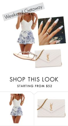 """weekend Getaway"" by elysse-r on Polyvore featuring Yves Saint Laurent"