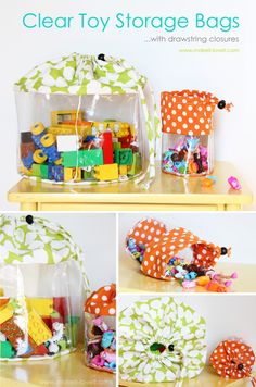 Cute Homemade Toy Storage Bags by DIY Ready at  www.diyready.com/storage-solutions-life-hack/
