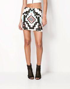 Bershka Slovakia - Bershka ethnic print skirt