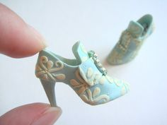 Handmade Miniature Shoes  Polymer Clay by YinyingO on Etsy, $42.00