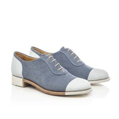 Seymour Denim Canvas Women's Hand-painted Oxford – The Office of Angela Scott Brogues, Loafers, Flat Abs Workout, Shoe Sites, Abs Women, Cross Training Shoes, Size 8 Women, Womens Flats, Me Too Shoes