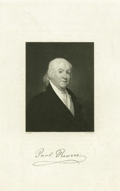 """""""Paul Revere,"""" engraved by S.A. Schoff, after the painting by Gilbert Stuart, NYPL Collection."""