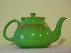 This Item Is Unavailable Tea Pots Hall Pottery Green And Gold