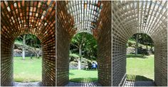 This Brick Arch Installation Dissolves in the Rain to Leave a Mortar Skeleton