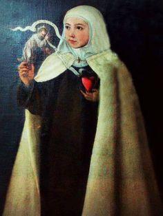 Teresita de Cepeda, nièce de Thérèse. Fille de don Lorenzo, émigré au Pérou en 1530. Où il a il épousé Juana Fuentes. En 1575, veuf, il rentre en Espagne. Il rencontre Thérèse à Séville et lui confie sa fille. Nièce gâtée, elle l'accompagnera dans plusieurs de ses voyages comme le dernier pour l'éternité. Fréquemment mentionnée dans ses lettres. Elle prendra une part importante dans le processus de béatification de sa tante. Elle est décédée le 10.09.1610 au couv. de San José de Ávila à 44… San Jose, Santa Maria Magdalena, D Avila, Veuve, My Passion, Les Oeuvres, Catholic, Saints, Fiction