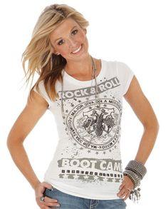 """Rock 47™ by Wrangler® Ladies' """"Rock & Roll"""" Tee::Tee::Shirts::Ladies::Apparel::Fort Western Online"""