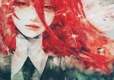 Anime Houseki no Kuni Cinnabar (Houseki No Kuni) Papel de Parede Aesthetic Art, Aesthetic Anime, Manga Anime, Anime Art, Daytime Shooting Star, Character Art, Character Design, Blue Springs Ride, Girls With Red Hair