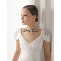 Silk chiffon wedding dress - oh freaking wow!