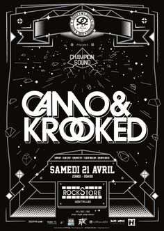 CHAMPION SOUND w/ CAMO & KROOKED le 21 avril au Rockstore !