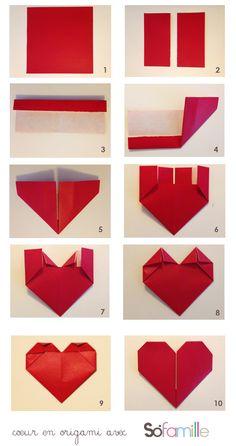 Lieblich Origami Coeur Rouge