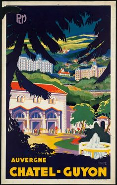 art deco poster Auvergne / France